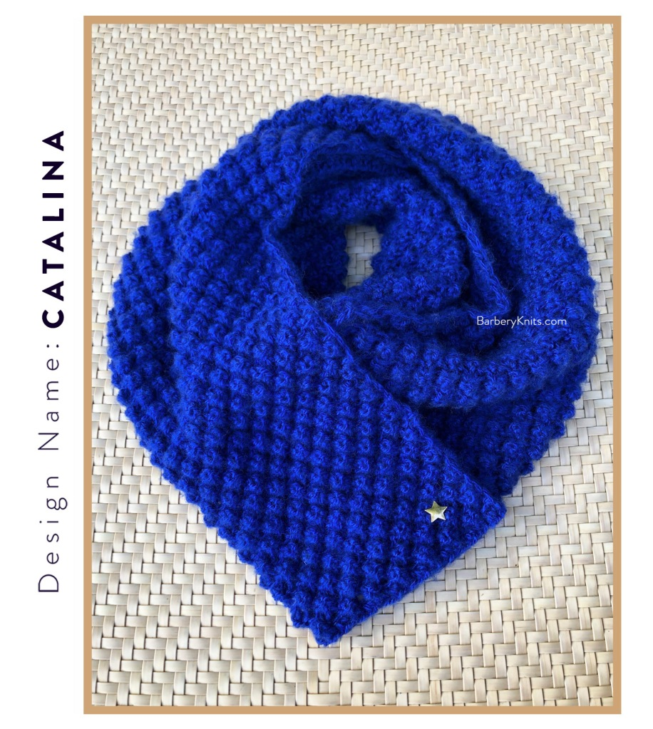 This image has an empty alt attribute; its file name is catalinabluestarscarf6-1.jpg